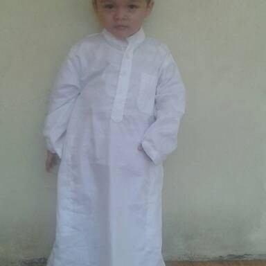 Foto Produk gamis jubah putih anak 2 dan 3 tahun dari aamaleeq