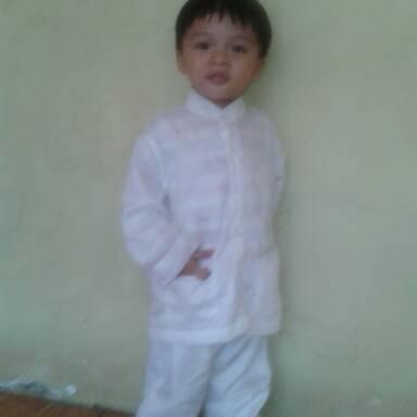 Foto Produk baju koko stelan putih anak 2 dan 3 tahun dari aamaleeq