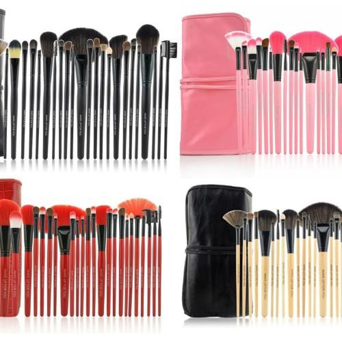 Foto Produk Makeup For You (Mufy) PINK BLACK RED BAMBOO 24pcs Makeup Brush Set dari twindshop