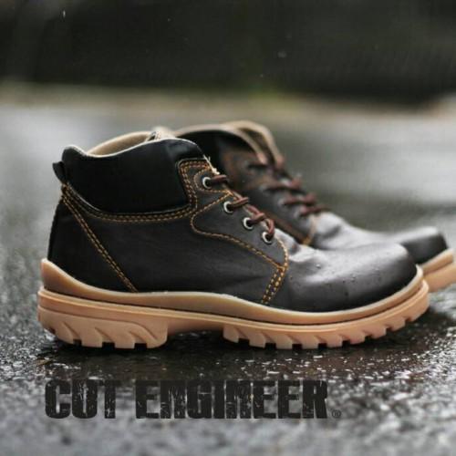 Foto Produk sepatu safety boots cut engineer brown kuat dari Cut Engineer