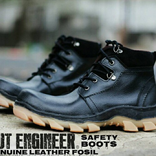 Foto Produk Sepatu Kulit Asli Safety Fosil Cut Engineer Boots Ori Black dari Cut Engineer