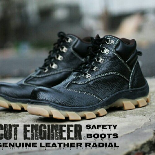 Foto Produk sepatu safety KULiT ASLI Radial Cut Engineer Black dari Cut Engineer