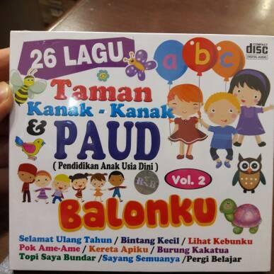 Foto Produk CD ANAK ANAK 26 LAGU TK DAN PAUD VOL.2 dari MUSIC CLUB