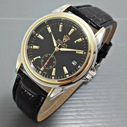 Foto Produk Jam Tangan Rolex Automatic Combi Gold Kulit Hitam Chrono & Tgl Aktif dari ANEKA JAM JAKARTA
