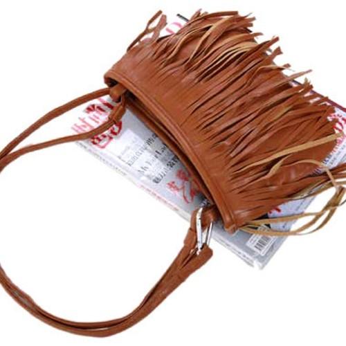 Foto Produk tas rumbai korea / Korean fashion tassel small bag BTA019 - Putih dari Oila