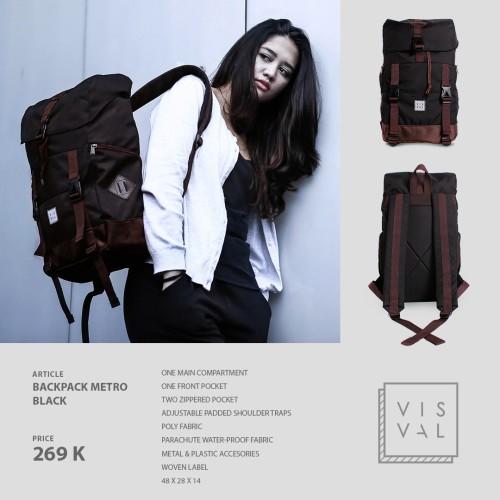 Foto Produk Tas Visval Metro Black Series / Tas Laptop Backpack dari Tas Denim Bandung