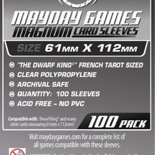 Foto Produk Card Sleeves 61x112 mm - Board Game - Mayday Magnum Platinum dari Toko Board Game