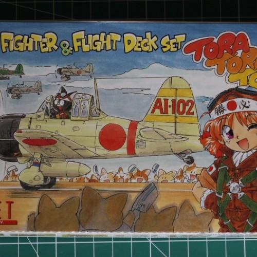 Foto Produk Mokit Sweet 1/144 Mitsubishi Zero w carrier deck dari rumahmokit