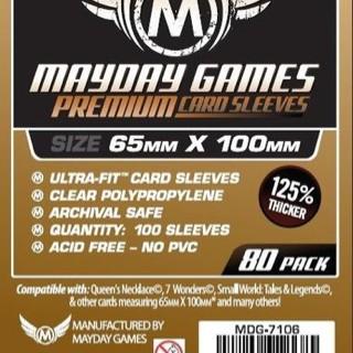 Foto Produk Premium Card Sleeves 65x100 mm - Mayday Magnum Copper 7 Wonders dari Toko Board Game