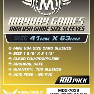 Foto Produk Card Sleeves 41x63 mm - Mini USA - Board Game Sleeves - Mayday dari Toko Board Game