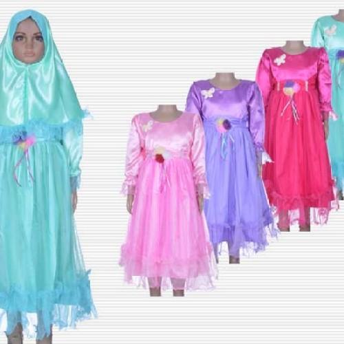 Foto Produk PROMO. SALE. Baju Muslim Anak Perempuan. Gamis Saten Anak. Baju Anak dari AK2 HAPPY SHOP