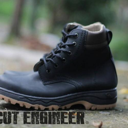 Foto Produk Safety Boots Cut Engineer Black Leather keren bro dari Cut Engineer