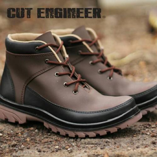 Foto Produk Sepatu Boots Safety Cut Engineer Coklat Tua Kuat dari Cut Engineer