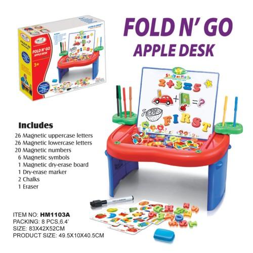 Foto Produk First Classroom Fold N' Go Apple Desk Creative Art Learning Desk ABC + dari toy house