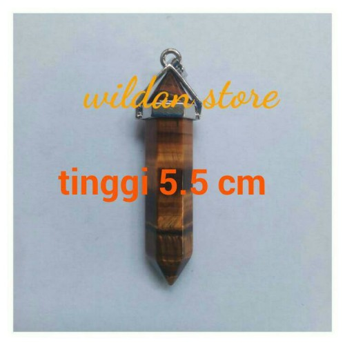 Foto Produk liontin batu mini pendulum besar tiger eye dari wildan-store
