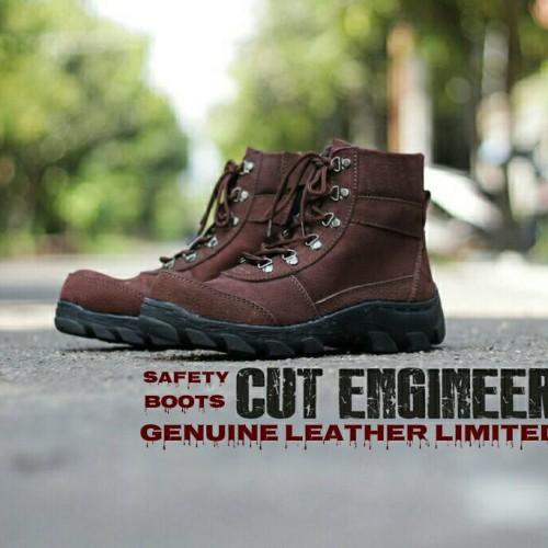 Foto Produk Sepatu Safety Kuli Asli Cut Engineer Limited Zipper dari Cut Engineer