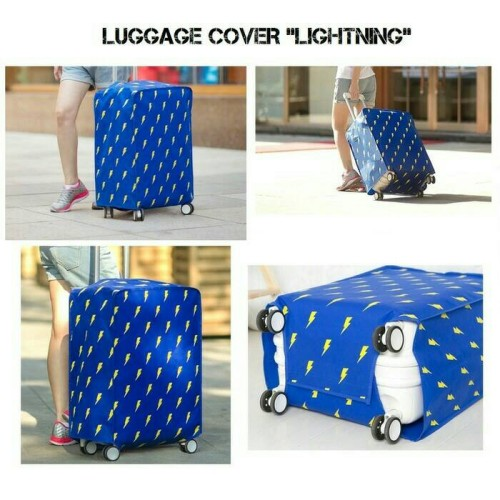 "Foto Produk sarung koper / luggage cover "" lightning edition "" blue dari AZISTA SHOP"