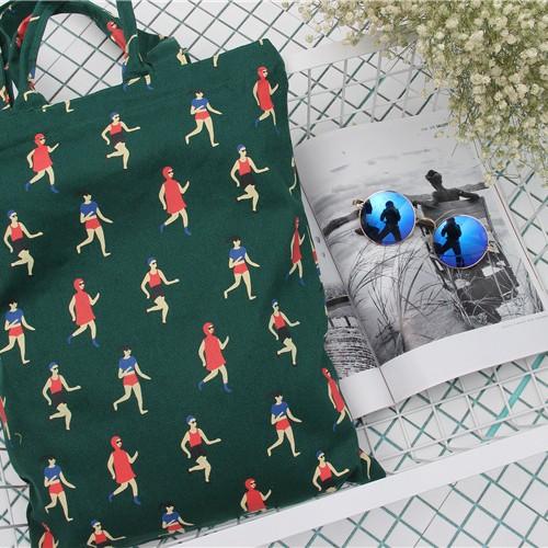 Foto Produk D04210 Shoulder Bag (Running Sport print dark green) dari Grab Zoeys Bag