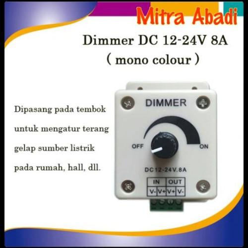 Foto Produk Dimmer DC 12-24V 8A Single Colour dari Toko Mitra Abadi
