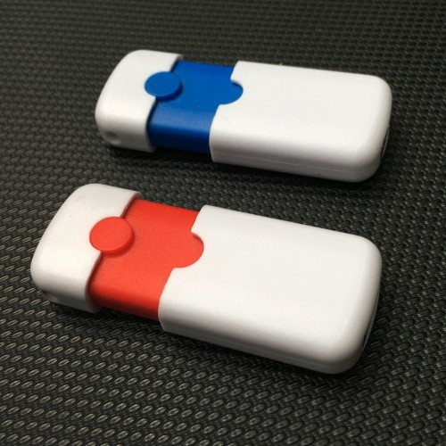 Foto Produk Souvenir Flashdisk Dual Tone Push 8GB - Polos dari USBCRAFT