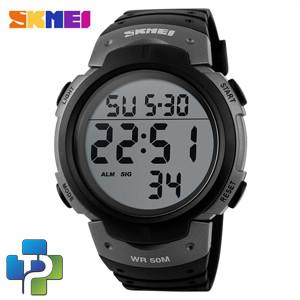 Foto Produk SKMEI Pioneer Sport Watch Water Resistant 50m - DG1068 - Black/Silver dari Pastirah