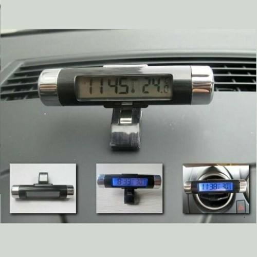 Foto Produk Jam Digital LED LCD Termometer Temperatur Tempel Mobil (K011JMJ) dari dhikaputrashop