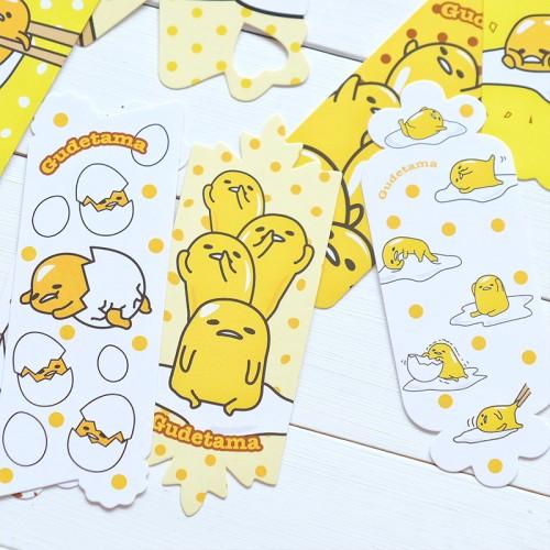 Foto Produk Gudetama Paper Bookmark Set / Pembatas Buku / Klip Kertas dari Pinkabulous