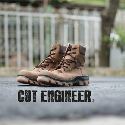 Foto Produk sepatu boots safety cut engineer high quality brown dari Cut Engineer