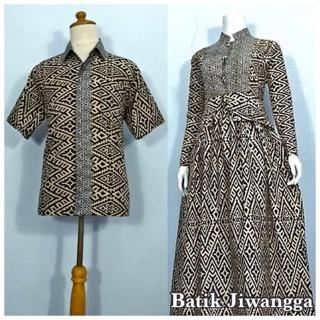Foto Produk Baju Couple Sarimbit Batik Gamis Wanita Mayang Hitam, Busui dari Batik Jiwangga