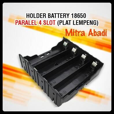 Foto Produk Holder/Tempat Battery/Baterai 18650 Pararel 4 Slot (Plat Lempeng) dari Toko Mitra Abadi