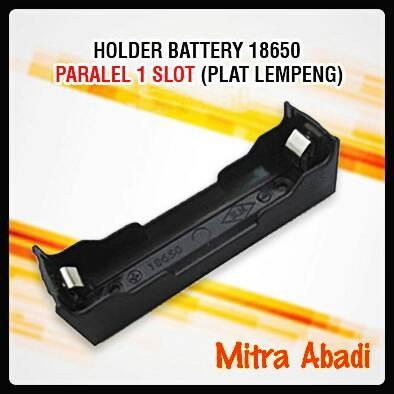 Foto Produk Holder/Tempat Battery/Baterai 18650 Pararel 1 Slot (Plat Lempeng) dari Toko Mitra Abadi