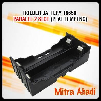 Foto Produk Holder/Tempat Battery/Baterai 18650 Pararel 2 Slot (Plat Lempeng) dari Toko Mitra Abadi