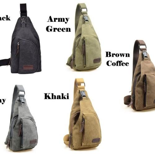 Foto Produk Tas Selempang Pria Slempang Kanvas Murah / Men Sling Shoulder Bag dari toko impor unik