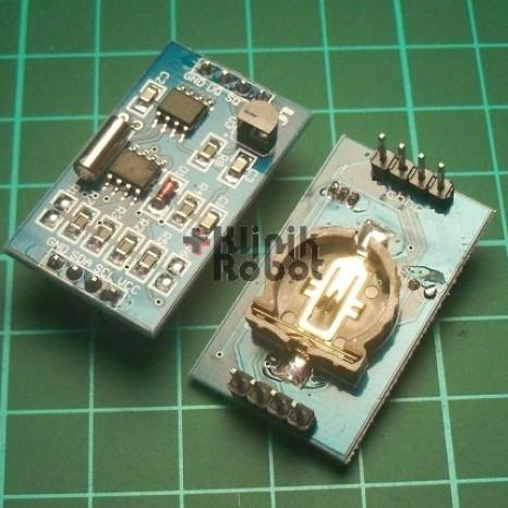 Foto Produk RTC-DS1307 +AT24C128 Memory +DS18B20 Temperature Sensor Batere Include dari KlinikRobot