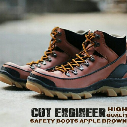 Foto Produk Sepatu Safety Boots Apple Cut Engineer Leather Brown dari Cut Engineer