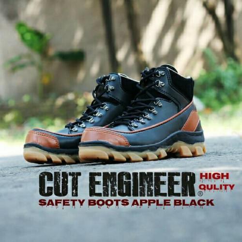 Foto Produk sepatu cut engineer boots safety apple leather black dari Cut Engineer