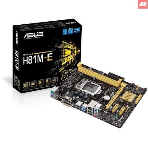 Foto Produk Mainboard ASUS H81M-E, DDR3 Socket 1150 dari Customations Toys