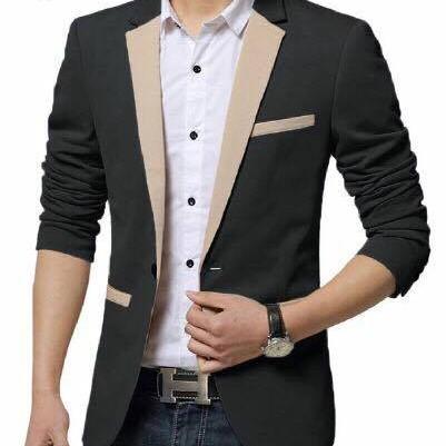 Foto Produk [blazer combo black OT] blazer pria katun stretch dari FASHIONISTA's GROSIR