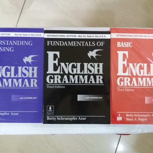 Foto Produk ENGLISH GRAMMAR THIRD EDITION paket 3 buku ( BETTY SCHRAMPFER AZAR ) dari rheny book store