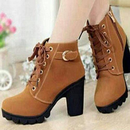 Foto Produk NO. 39 Sepatu Boots Wanita BT 08 Tan dari eleza