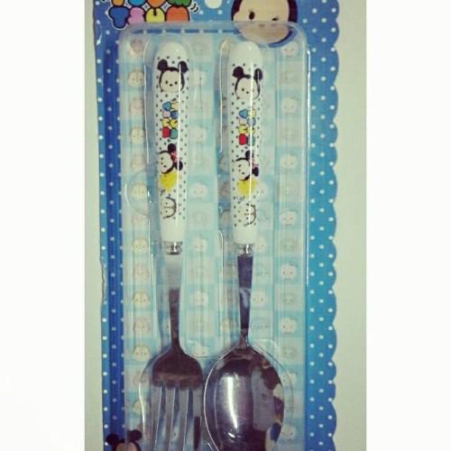 Foto Produk sendok set karakter tsum tsum sendok garpu tsum tsum dari reanolshoop
