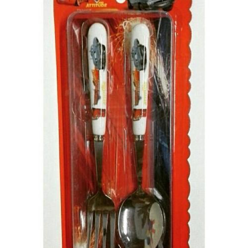 Foto Produk sendok set karakter cars sendok dan garpu cars mobil dari reanolshoop