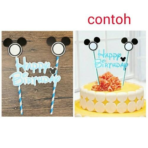 Foto Produk topper cake birthday kue ulang tahun mickey mouse dari reanolshoop