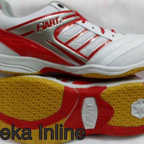 Foto Produk Sepatu Badminton HART HS 303 ( Wht/Red ) dari Aneka Inline