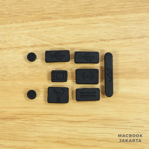 Foto Produk Anti Dust / Dust Plug Macbook Black dari Case Macbook Jakarta