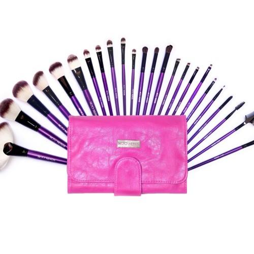 Foto Produk NOO NERDS - Pink SQUAD Brush Set 24pcs Luxury BRUSH - LUXURY Case ORI dari twindshop