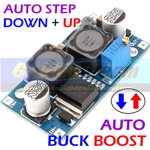 Foto Produk Auto Buck Boost Step Down + Up XL6009 Adjustable Converter Solar Aki dari Golden Dream