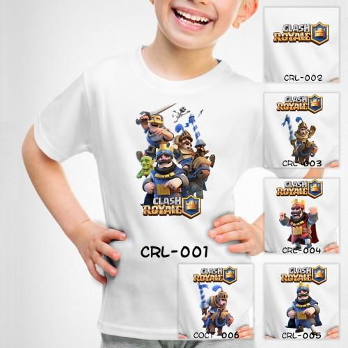 Foto Produk Kaos Anak Clash Royale - CRL - 6 Motif/Design dari Little Orca