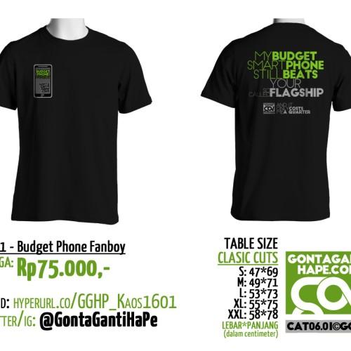 Foto Produk Official T-Shirt (Kaos) GontaGantiHape.com, 16-001 - Budget Phone dari Aa Gogon Store
