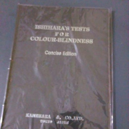 Foto Produk ISIHARA TEST /BUKU TEST BUTA WARNA dari Nusantara Medika jaya
